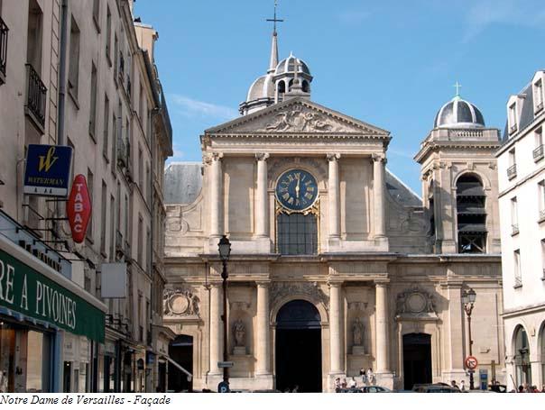 Notre Dame de Versailles, la façade