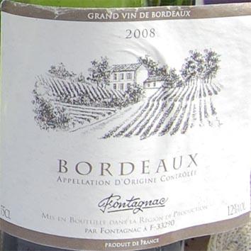 vin bordeaux fontagnac